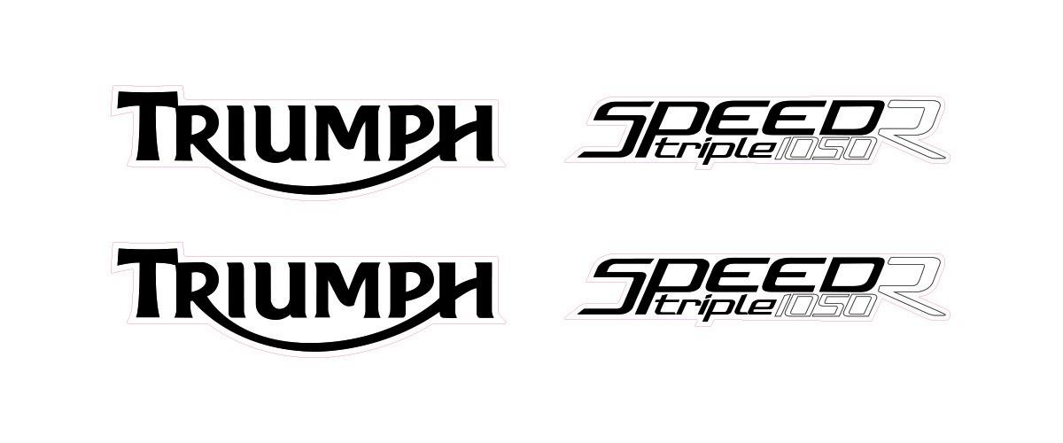 Kit Jogo Emblema Adesivo Triumph Speed Triple 1050r Sp1050r1