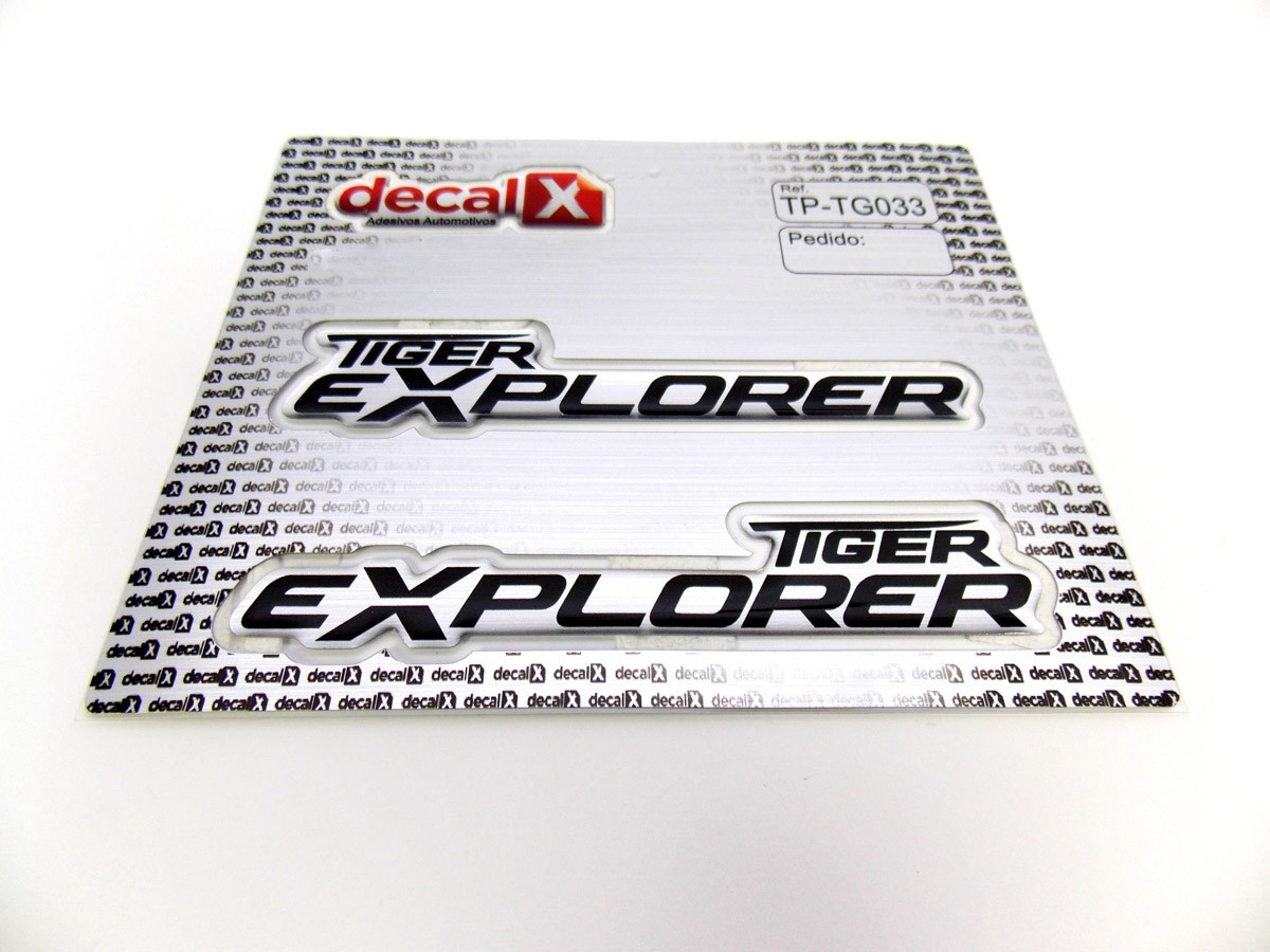 Par Adesivo Triumph Tiger Explorer Resinado Tg033
