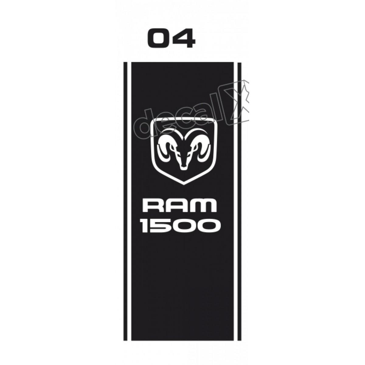 Par Adesivos Caçamba Dodge Ram Cmba04 Decalx