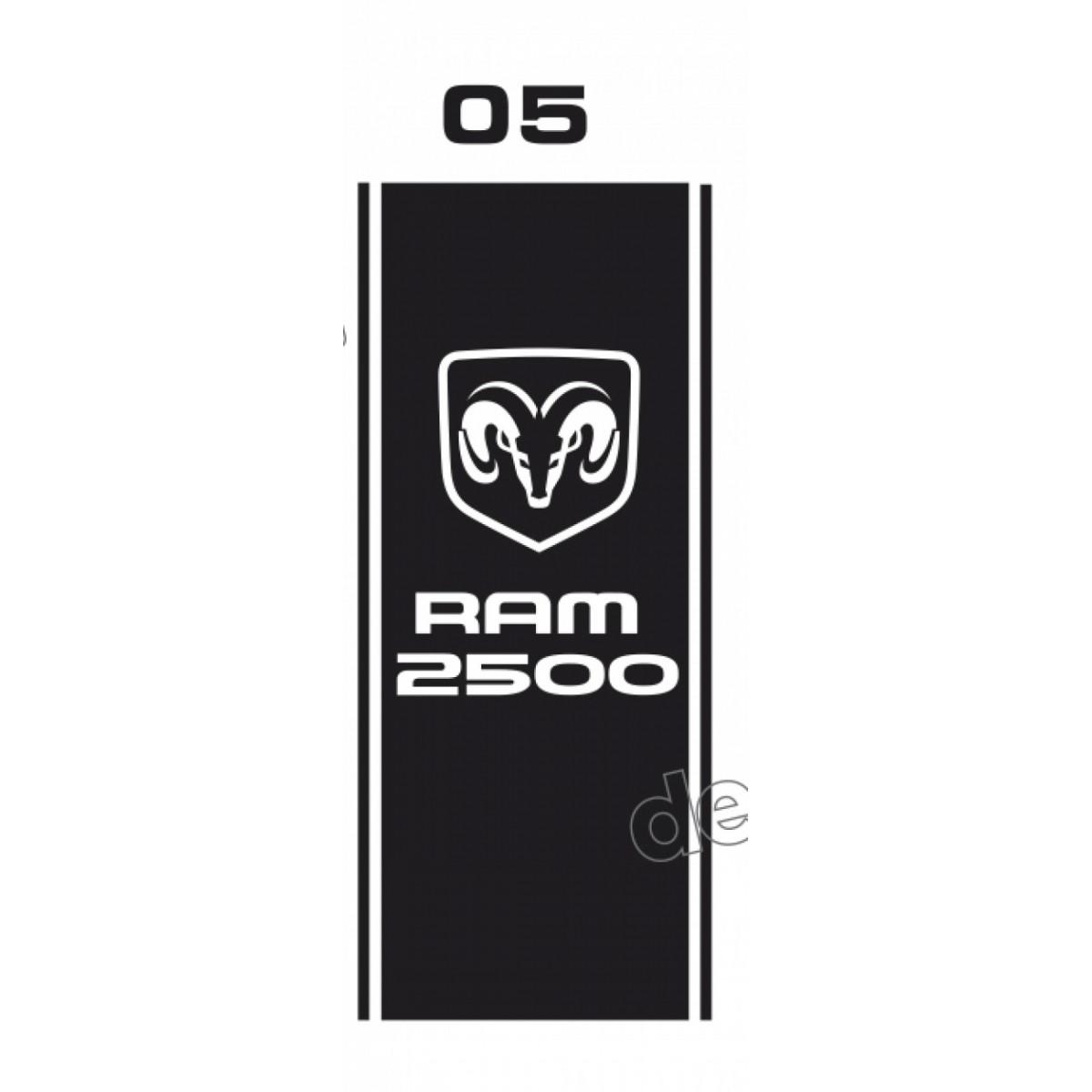 Par Adesivos Caçamba Dodge Ram Cmba05 Decalx