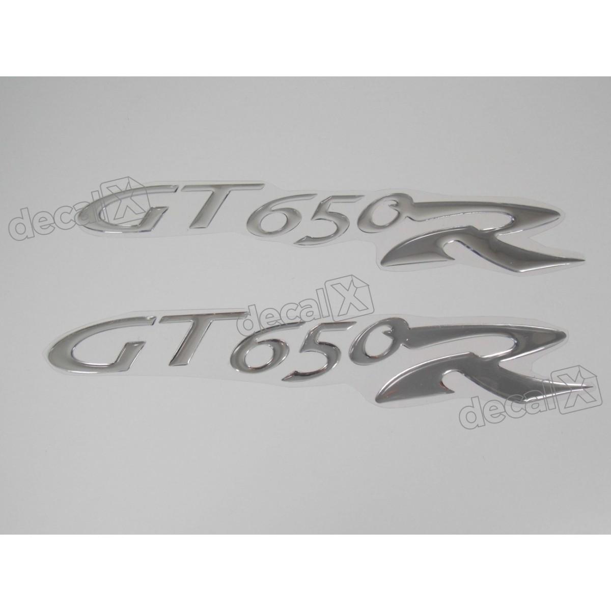 Par Adesivos Kasinski Gt 650r Resinado Cromado 25x4,5 Cms