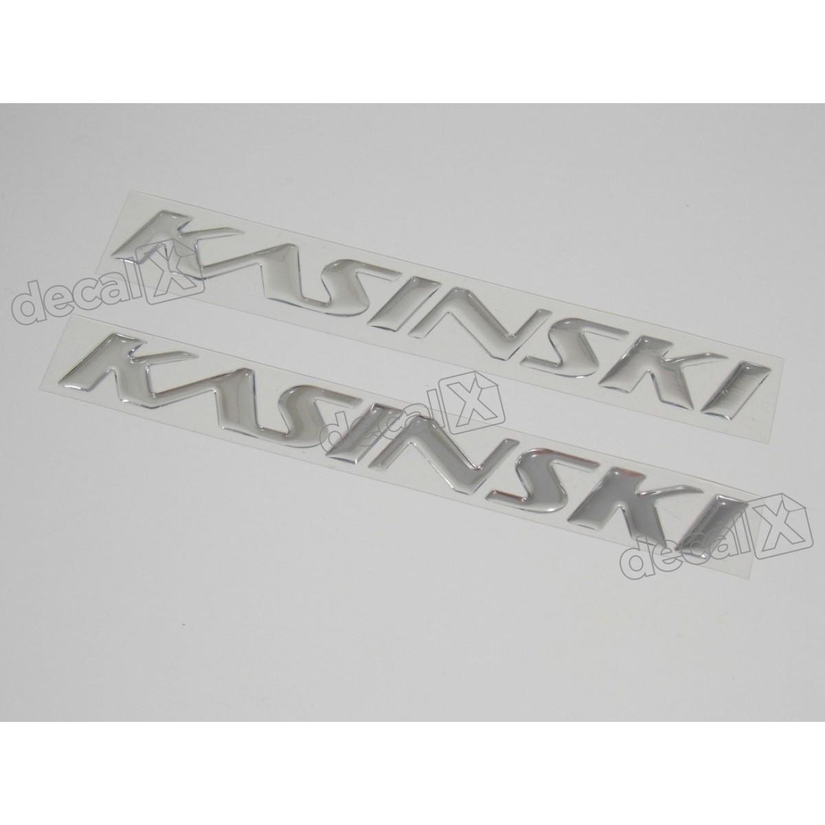 Par Adesivos Kasinski Resinado Cromado 18x1,7 Cms Rs8 Decalx