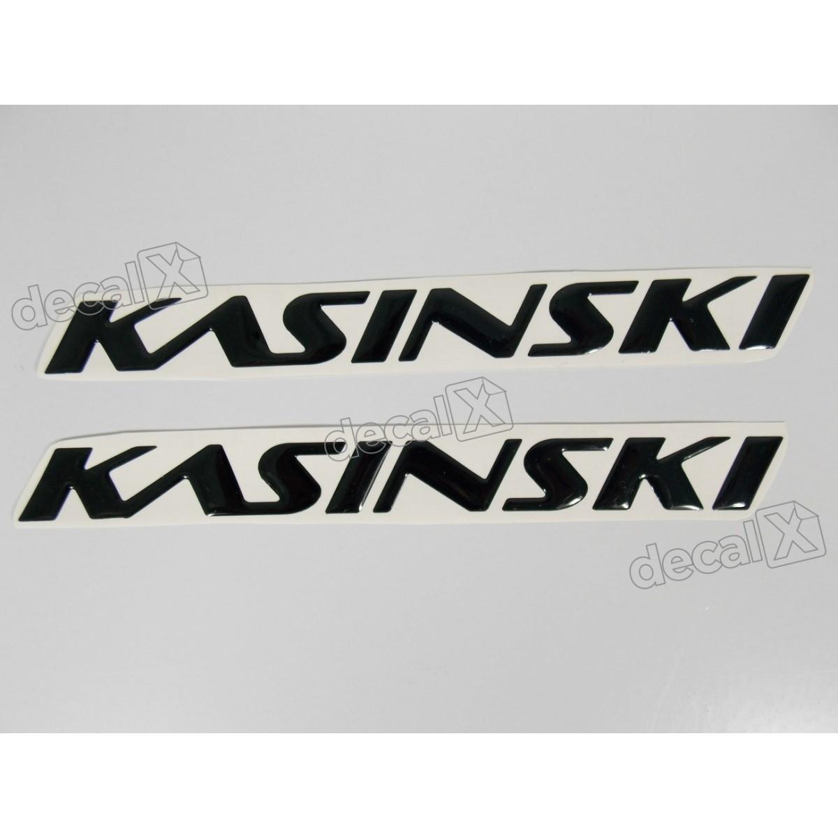 Par Adesivos Kasinski Resinado Preto 18x1,7 Cms Rs9 - Decalx