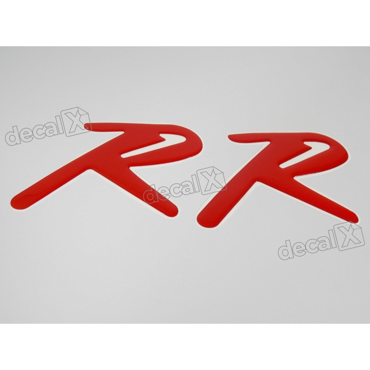 Par Adesivos R Kasinski Resinado Vermelho 15x10 Cms Rs13