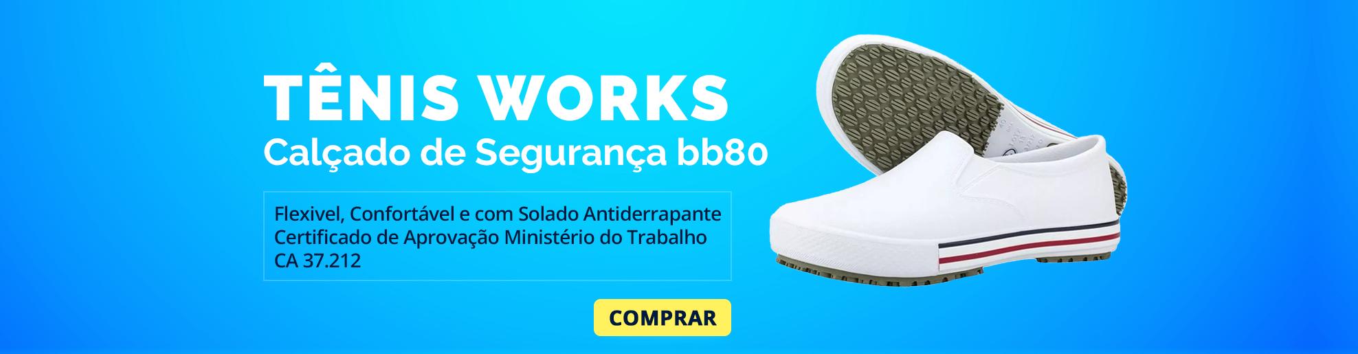 sapato de segurança antiderrapante bb80