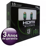 Cabo Hdmi 15m C/ Filtro 2.0 4k Ultra Hd 3d 19 Pinos 018-1520