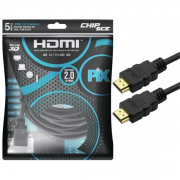 Cabo Hdmi 2.0 4k Hdr 3d 19 Pino 5m Pix Chip Sce 018-2225