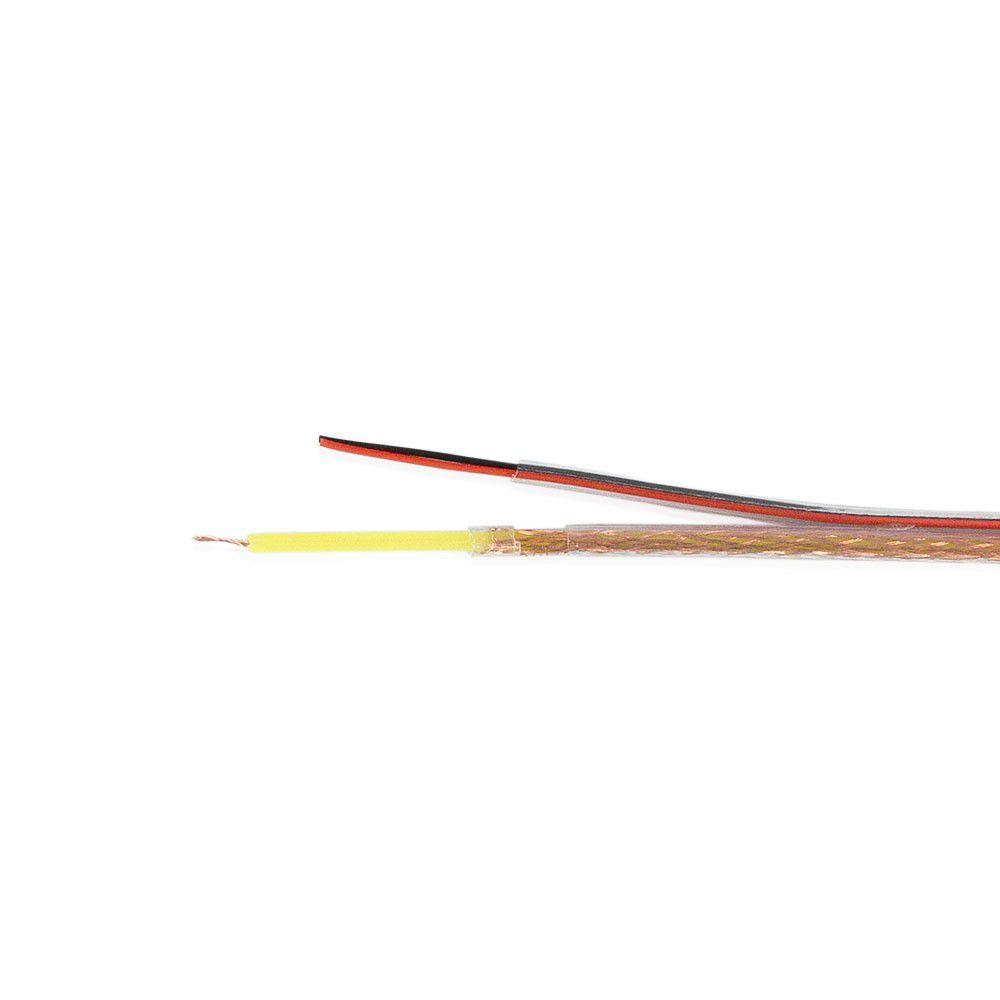 Cabo Coaxial Flexível 4mm Bipolar 80% Malha Frapa Cx 100m