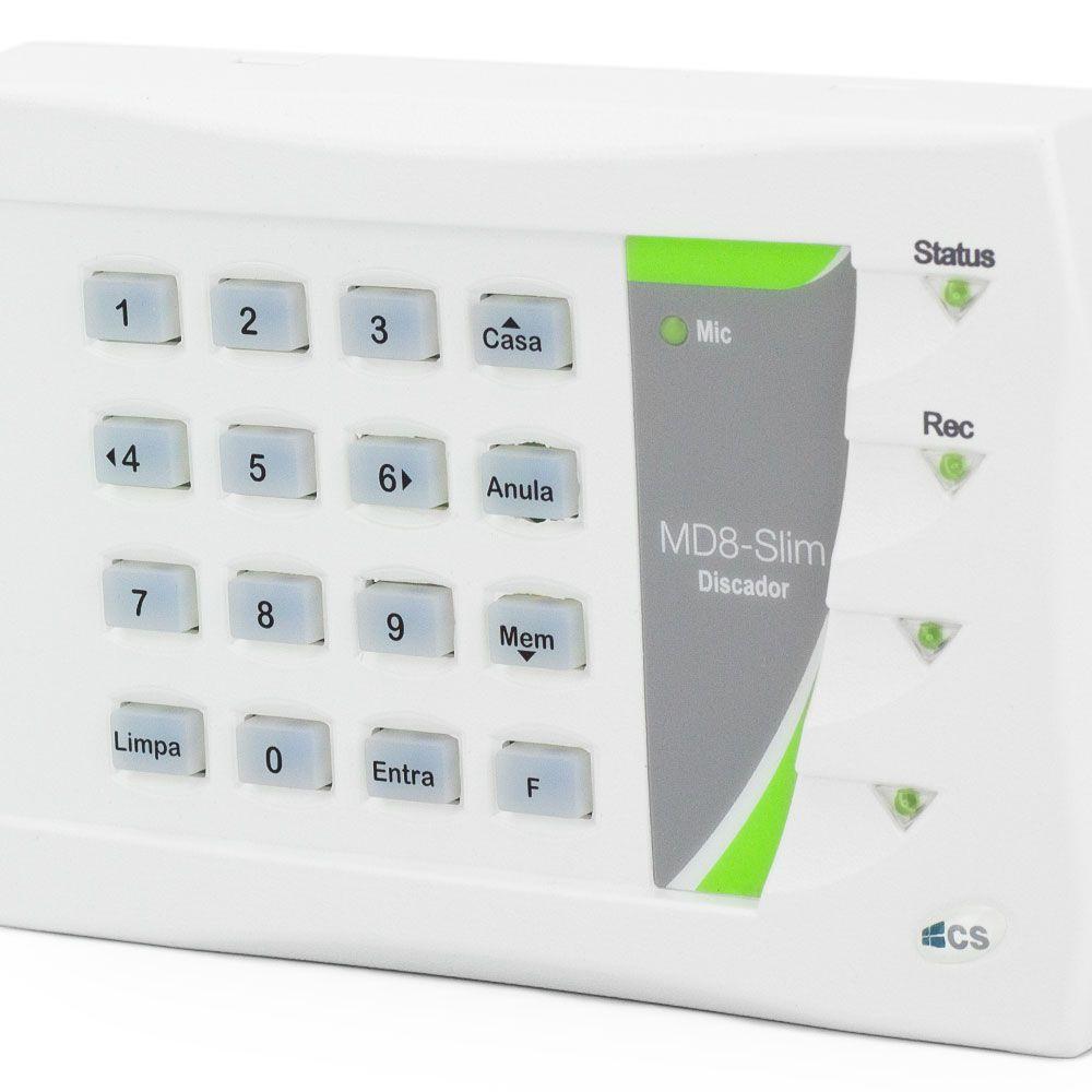 Discadora Telefônica P/ Alarme E Cerca Elétrica Md8 Slim Cs