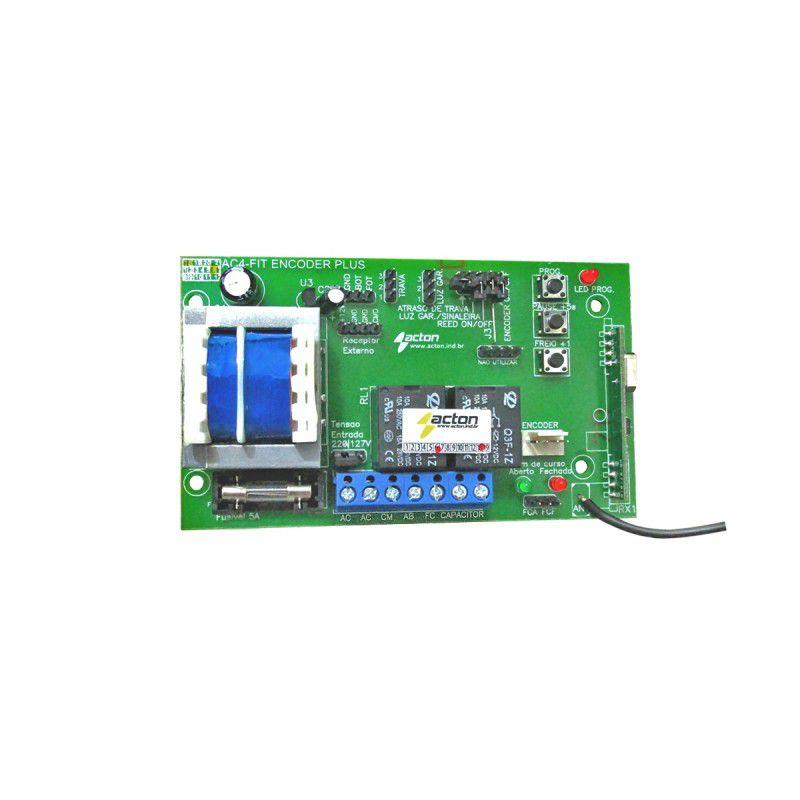 Kit 10 Placas Central Eletrônica P/ Portão Ac4 Fit Pa Encoder Acton