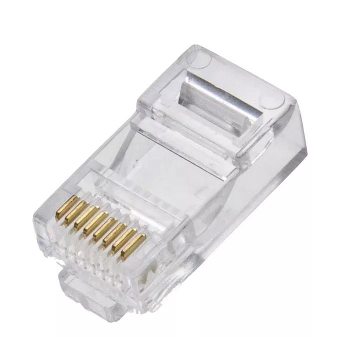 Kit 200 Conectores Plug Rj45 8x8 Cat5e Profissional Marca 5+