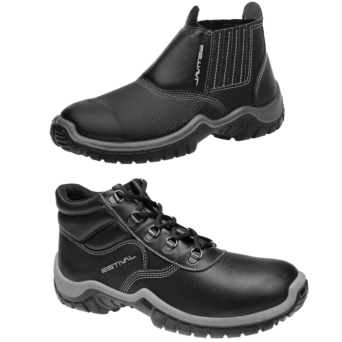 Kits Calçado de Segurança Preto - Estival Wo10011s1 + Wo10031s1