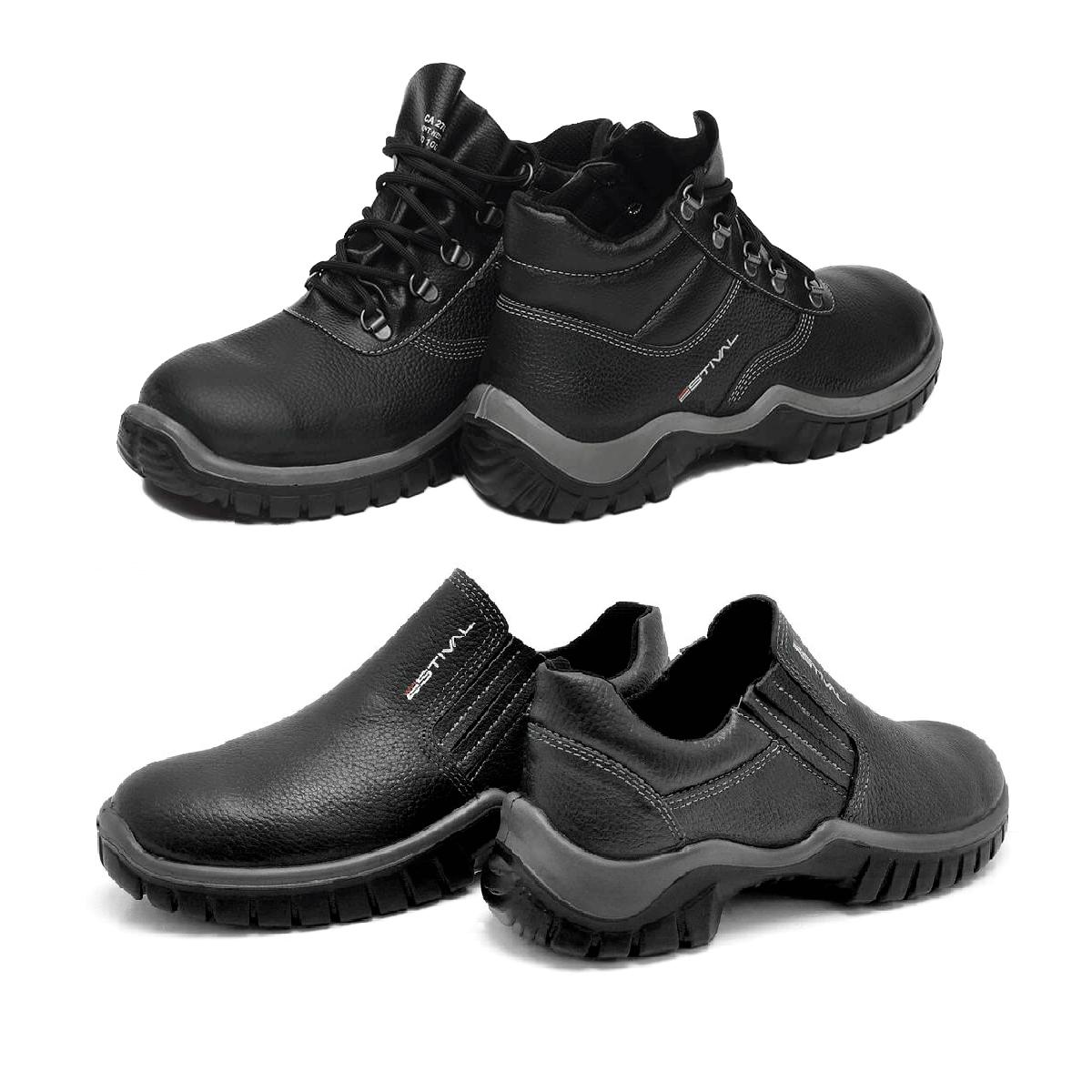 b9fd8a0150175 Kit Calçado de Segurança Preto - Estival Wo10021s1 + Wo10031s1