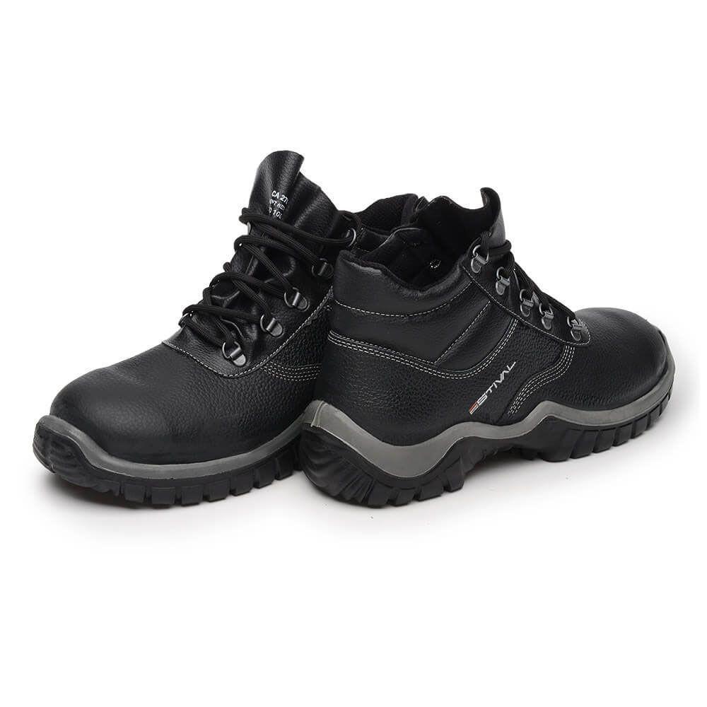 Kit Calçado de Segurança Preto - Estival Wo10021s1 + Wo10031s1