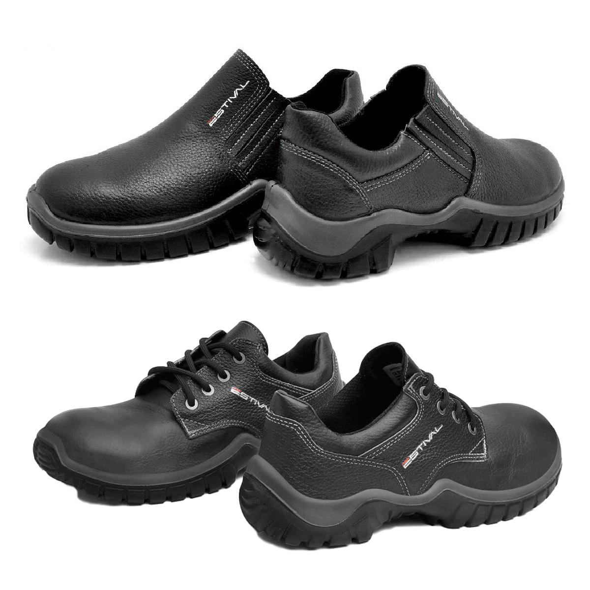 Kit Calçado de Segurança Preto - Estival W010021s1 + W010041s1