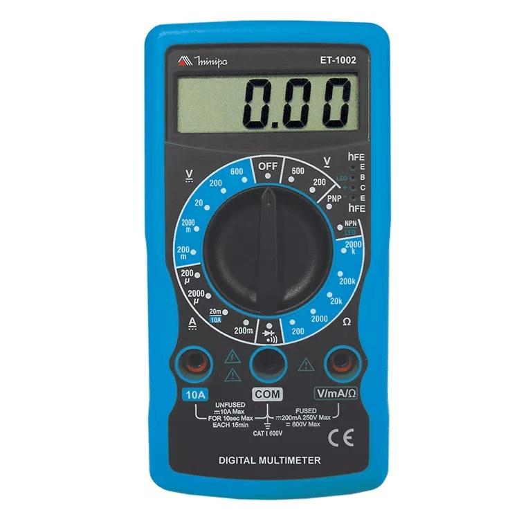 Multímetro Digital Profissional Portátil Et-1002 Minipa Orig