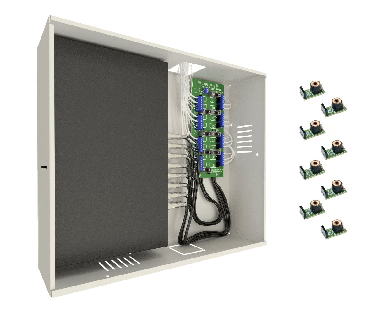 Rack 8 Ch Organizador Mini Orion Hd 3000 Onix + 8 Balun Rack