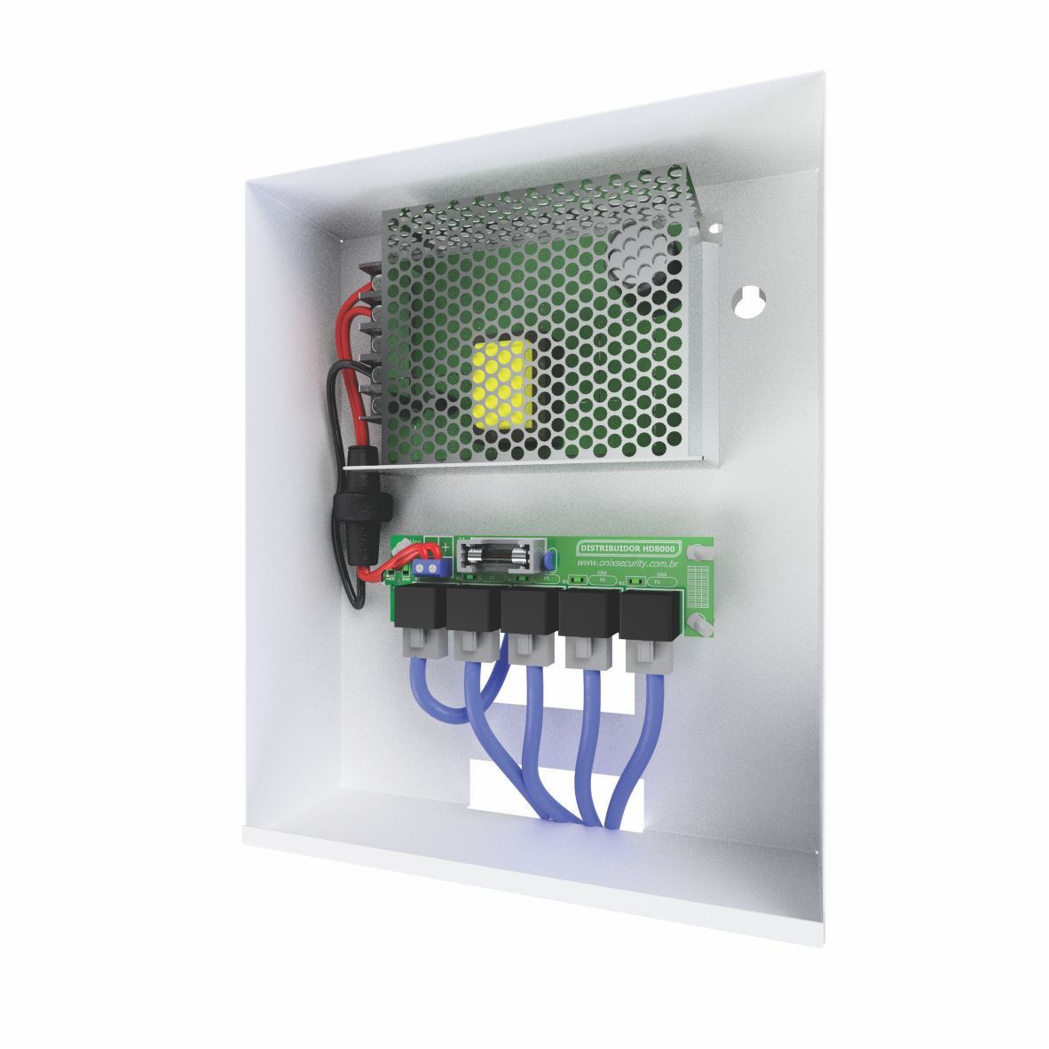 Rack Power Balun Pvt 4 Canais Completo Hd 4000 Vertical Onix
