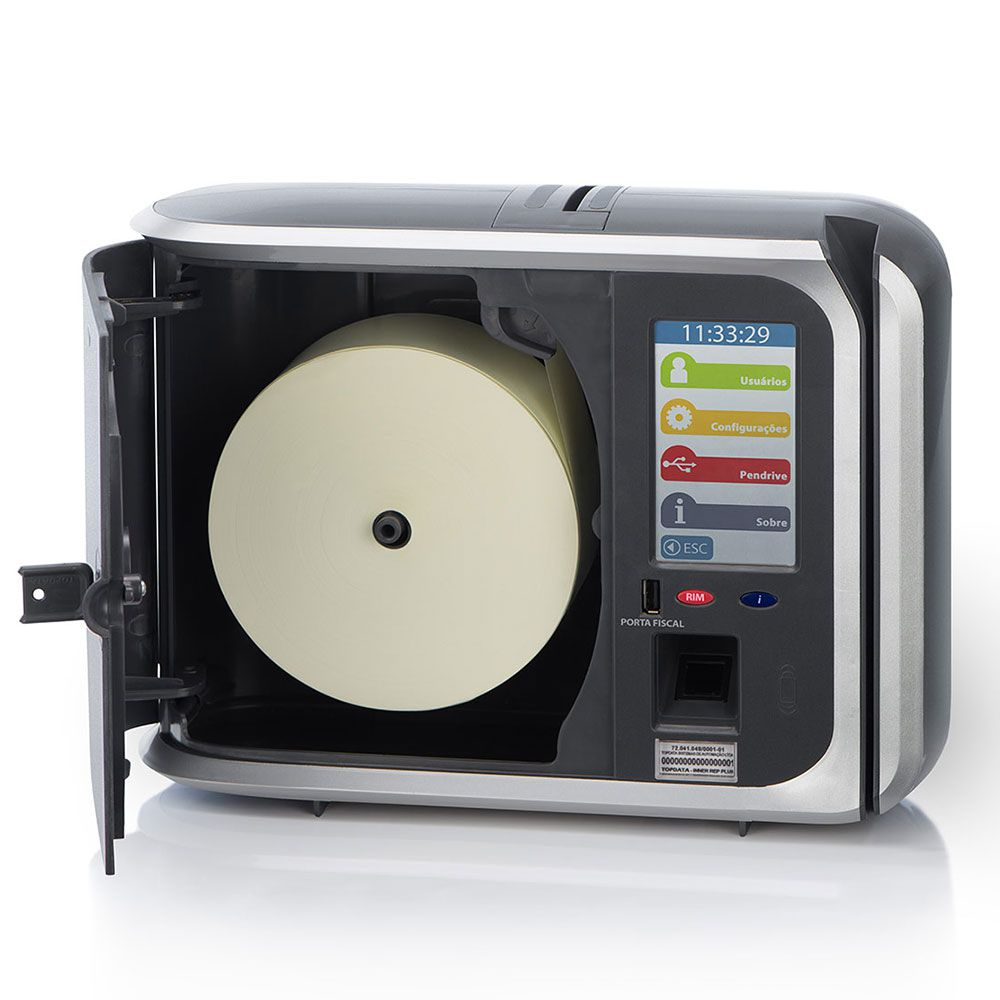 Relógio de ponto Top Data Inner REP PLUS V3 (Bio Barras) Homologado MTE e Inmetro