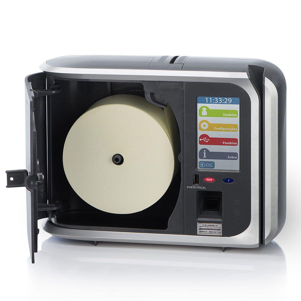 Relógio de ponto Topdata Inner REP PLUS V3 (Completo) Homologado MTE e Inmetro
