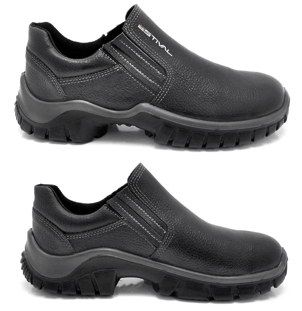 Sapato De Segurança Estival Em Couro Preto Wo10021s1 CA 27.852