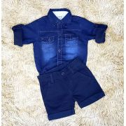 Bermuda Azul Marinho com Body Jeans