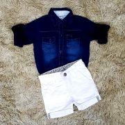 Bermuda Branca com Body Jeans