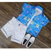 Conjunto Baby Shark mais Camiseta Infantil