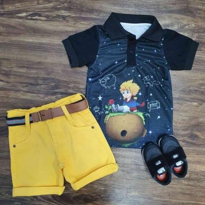 Conjunto com Polo Pequeno Principe Amarelo