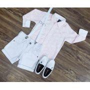 Roupa Infantil com Camisa Rosa Floral