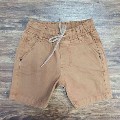 Bermuda Caramelo Jeans com Cordão Infantil