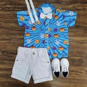 Bermuda com Camisa Bolofofos Infantil