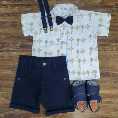 Bermuda com Camisa Brinquedos Infantil