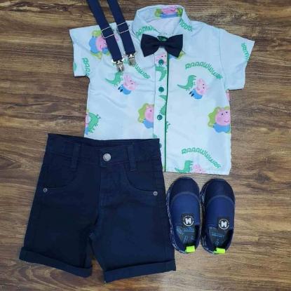 Bermuda com Camisa George Pig Infantil