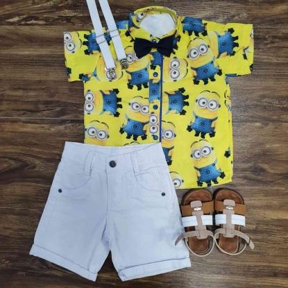 Bermuda com Camisa Minions Infantil