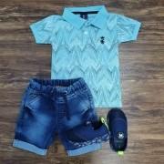 Bermuda com Camisa Polo Leaf Infantil