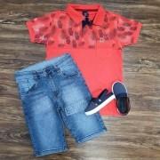 Bermuda com Camisa Polo Palm Tree Infantil