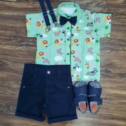 Conjunto Azul Safari Infantil