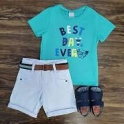 Bermuda com Camiseta Best Day Infantil