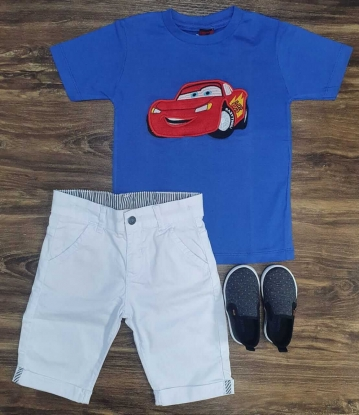 Bermuda com Camiseta Carros Infantil