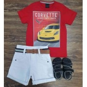 Bermuda com Camiseta Corvette Infantil