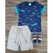Bermuda com Camiseta Food Infantil