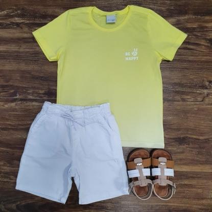 Bermuda com Camiseta Be Happy Infantil