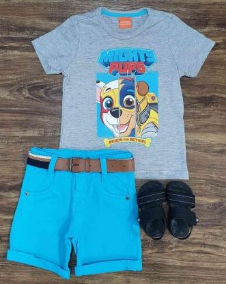 Bermuda com Camiseta Patrulha Canina Infantil