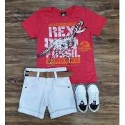 Bermuda com Camiseta Rex Infantil