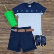 Bermuda com Camiseta Sporty Infantil