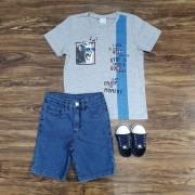 Bermuda com Camiseta Team Enjoy the Moment Infantil