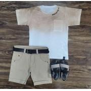 Bermuda com Camiseta TK Infantil