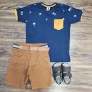 Bermuda com Camiseta Tropical Infantil