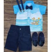 Conjunto Arca De Noé Azul Infantil